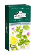 Ahmad Tea porcovaný ovocný čaj Peppermint a lemon přebal ALU 20x1,5g