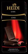 HEIDI Dark Chilli 80 g - hořká čokoláda s chili