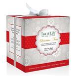 TEA OF LIFE - Vánoční čaje porcované - Bílý dáreček 4x25x2g