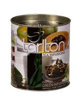 TARLTON Papírová dóza-Papaya sypaný zelený čaj 100g