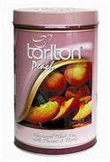 TARLTON Peach plechovka ovál 100g sypaný černý čaj