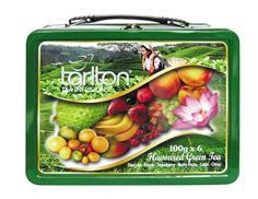 TARLTON Plechovka Kufřík zelený čaj mix 6x100g-sypané čaje