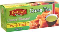 IMPRA - Zelený čaj s karamelem 30x2g (minimální trvanlivost 10/2015)
