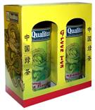 QUALITEA Dárkové balení zelených sypaných čajů v plechu 2x100g (Sencha&Jasmine)