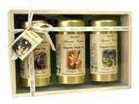 TEA OF LIFE - Dřevěná kazeta s porcovanými bio čaji v plechovkách - Organic Tea Gift