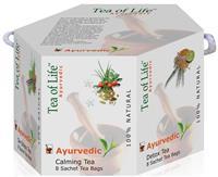 TEA OF LIFE - AYURVEDIC HEXAGONAL GIFT - Dárkové balení ajurvédských porcovaných čajů 6