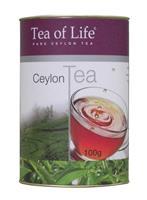 TEA OF LIFE Ceylon Tea papírová dóza sypaný černý čaj 100g