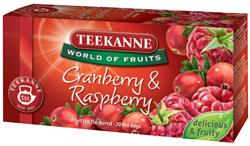 TEEKANNE Cranberry Raspberry ovocný čaj 20x2,25g