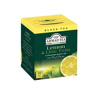 AHMAD TEA - ALU přebal - 10x2g Lemon and Lime Twist černý čaj