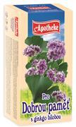 APOTHEKE Pro dobrou paměť s gingko bilobou čaj 20x1,5g