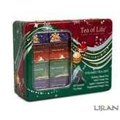 TEA OF LIFE - Holiday Red Assorted Tea Collection 32x2g(pyramidy) plech