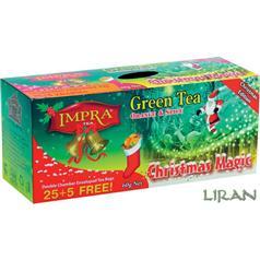IMPRA - Kouzlo Vánoc 30x2g - Vánoční zelený čaj s aroma pomeranče a koření
